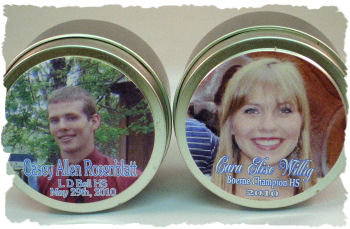Happy Occasions! Personalized 6 Oz Candle Tins