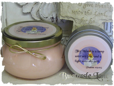 6 Oz Bible Verse Candle Tins