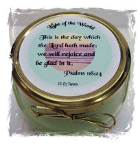 11 Oz Bible Verse Candle Tureens